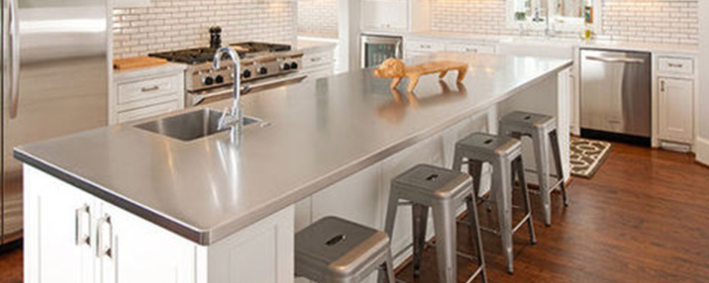 Stainless steel countertop kitchen