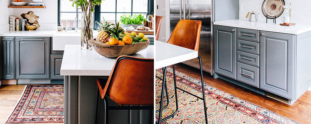 kitchen rug inspiration. how to add personality to your kitchen.