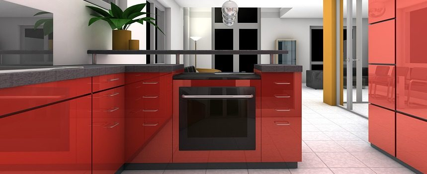 Red Kitchen cabinet painting. How to choose the best stove paint colours. Kitchen Cabinet Painting in Niagara.